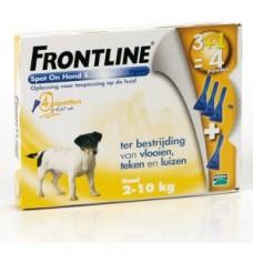 Frontline Hond 0-10KG 3 pipet + 1 gratis