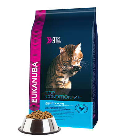 -   Eukanuba cat top condition 7+ senior chicken&liver 4 kg