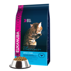 -   Eukanuba cat top condition 7+ senior chicken&liver 10 kg