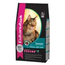 Eukanuba Cat Senior Chicken&Liver 10 kg