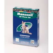 Mansonil ALL WORM cat 2 tabletten