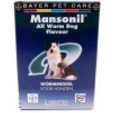 Mansonil ALL WORM FLAVOUR dog 2 tabletten