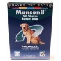 Mansonil ALL WORM dog large 2 tabletten