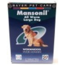 Mansonil ALL WORM dog large 2 tabletten