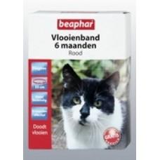 Beaphar  Vlooienband kat rood 6 maand