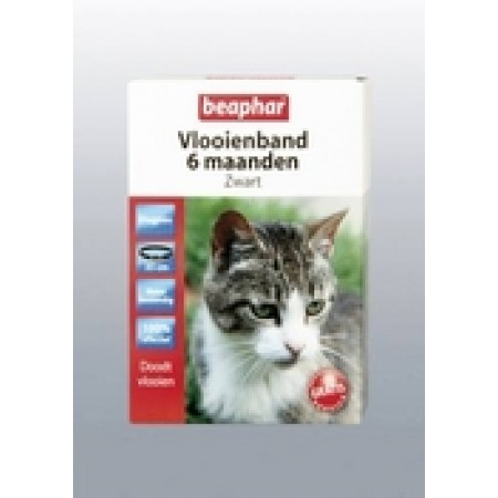 Beaphar Vlooienband kat zwart 6 maand