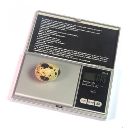 Digitale compacte weegschaal voor eieren max. 50gram